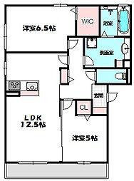 Osaka Metro谷町線 大日駅 徒歩25分の賃貸アパート 3階2LDKの間取り