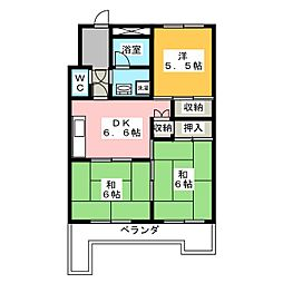 ル・グラン豊成[6階]の間取り