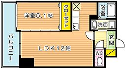 THE SQUARE・Suite Residence[1202号室]の間取り