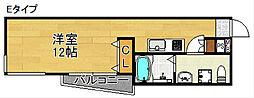 フェリオ南津守[2階]の間取り