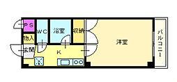白鷺TKハイツ1号館[2階]の間取り