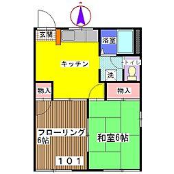 コーポBENIMO A棟[101号室]の間取り
