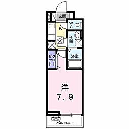 東中野アパート 2階1Kの間取り