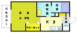 ナシドゥモアール[2階]の間取り