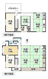 近鉄南大阪線 浮孔駅 徒歩22分 10DKの間取り