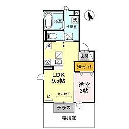 兵庫県姫路市白国2丁目の賃貸アパートの間取り
