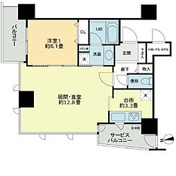 ベルファース大阪新町[5階]の間取り