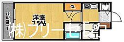 福岡県福岡市博多区東比恵1の賃貸マンションの間取り