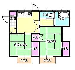 [一戸建] 東京都八王子市大楽寺町 の賃貸【東京都 / 八王子市】の間取り