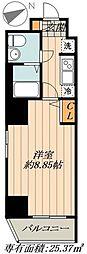 東京メトロ半蔵門線 水天宮前駅 徒歩4分の賃貸マンション 7階1Kの間取り
