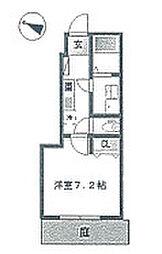 神奈川県相模原市南区南台5丁目の賃貸アパートの間取り