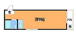 調布エンジェル岡田[1階]の間取り