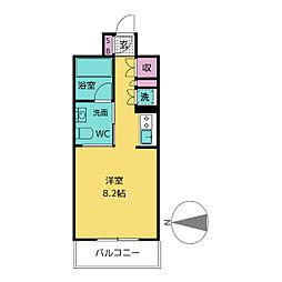 愛知県名古屋市中区栄2丁目の賃貸マンションの間取り