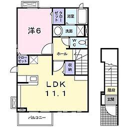 ネアタウンB[2階]の間取り