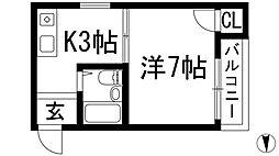 サニーコート石橋[3階]の間取り