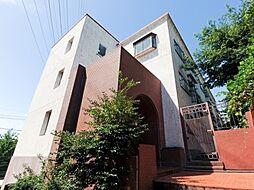 神奈川県横浜市青葉区つつじが丘の賃貸マンションの外観