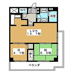 ロートレック中京[5階]の間取り