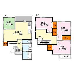 [一戸建] 滋賀県草津市野路東6丁目 の賃貸【/】の間取り