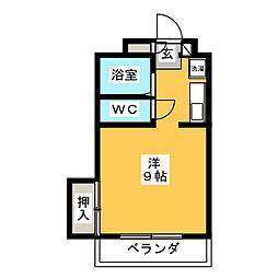 Chez moi三番丁[4階]の間取り