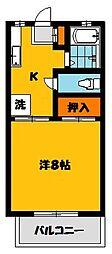 横川ハイツ[2階]の間取り