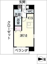 プレサンス名古屋STATIONビーフレックス[5階]の間取り