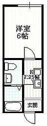 クーネル絹ヶ丘[1階]の間取り