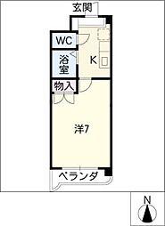 レスポワール清水ケ岡[2階]の間取り