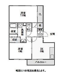 徳島県徳島市北矢三町3の賃貸マンションの間取り