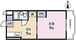 メゾンMORI[301号室]の間取り