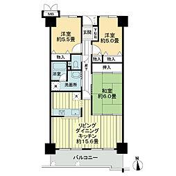 サーパス仏生山[2階]の間取り