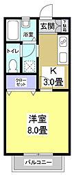 CASA YAMASHINA[2階]の間取り
