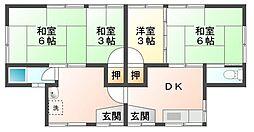 広島県呉市吉浦本町2丁目の賃貸アパートの間取り