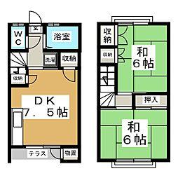 [テラスハウス] 宮城県仙台市泉区八乙女中央5丁目 の賃貸【/】の間取り