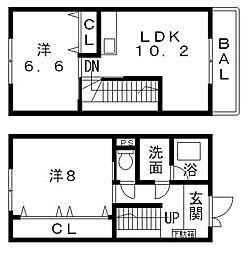 [テラスハウス] 大阪府八尾市渋川町6丁目 の賃貸【/】の間取り