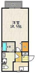 メゾンクニエダII[101号室]の間取り