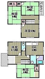 [一戸建] 大阪府貝塚市浦田 の賃貸【/】の間取り