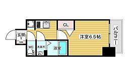 スワンズシティ新大阪ヴィーヴォ 7階1Kの間取り