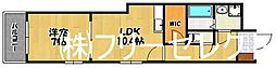 シャーメゾン東比恵[3階]の間取り