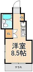 ハイツ松本[1階]の間取り