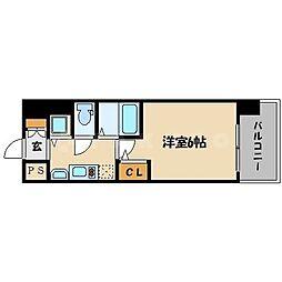 プレサンス上町台東平[7階]の間取り
