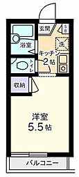 東京都八王子市山田町の賃貸マンションの間取り