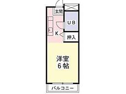 ポナール平方[1階]の間取り