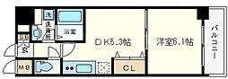 KWレジデンス九条1[11階]の間取り