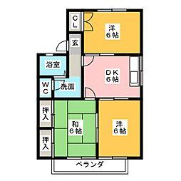 WOODY TOWN 2[2階]の間取り