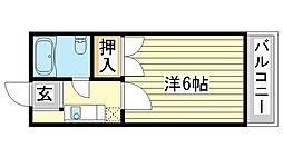 Uマンション[203号室]の間取り