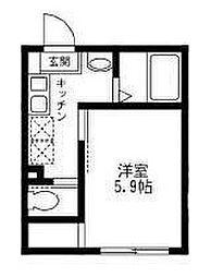 東京都豊島区長崎4丁目の賃貸アパートの間取り