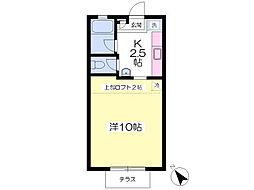 JR成田線 酒々井駅 徒歩4分の賃貸アパート 1階1Kの間取り