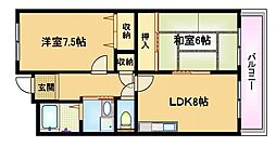 大阪府大阪市都島区御幸町2丁目の賃貸マンションの間取り