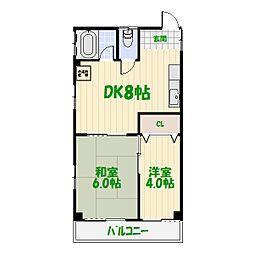 東澤マンション[205号室]の間取り