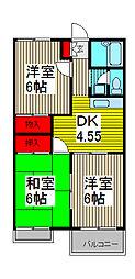 グランハイム田口[2階]の間取り